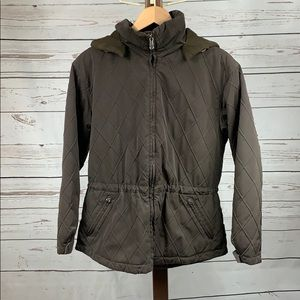 Pacific Trail Brown Quilted Jacket with Hood